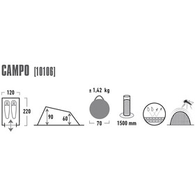 High Peak Campo Tente, green/phantom